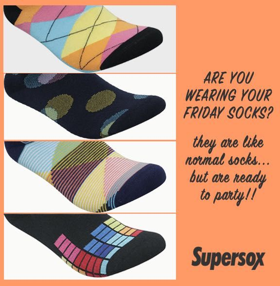 Are you wearing your #Friday socks? > www.supersox.in 😁😁😁