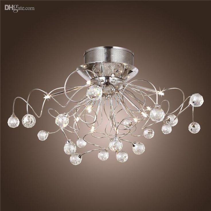 moderne kristall led kronleuchter leuchte decke beleuchtung kristall kronleuchter lampen pendent. Black Bedroom Furniture Sets. Home Design Ideas