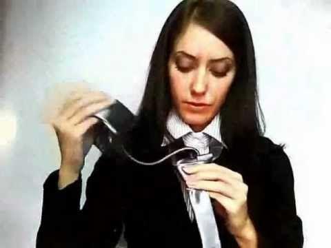 Учимся завязывать тонкий галстук