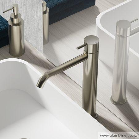 Buddy High Curved Spout Basin Mixer - Bathroom Tapware - Bathroom