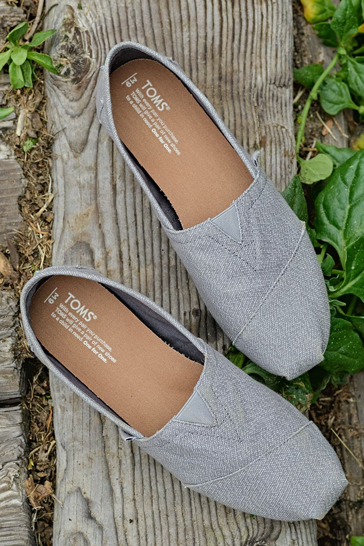 Simplicity is key in these grey TOMS Classics.