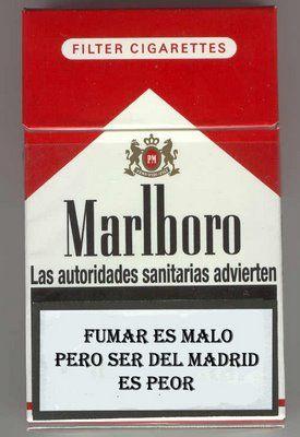 Fumar es malo pero ser del Madrid es peor
