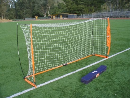 Portable Soccer Goal Practice Bow Net NEW Bownet 6' X 12' #Bownet
