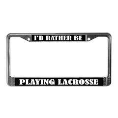 Lacrosse Player License Frame gift #lacrosse #licenseframes
