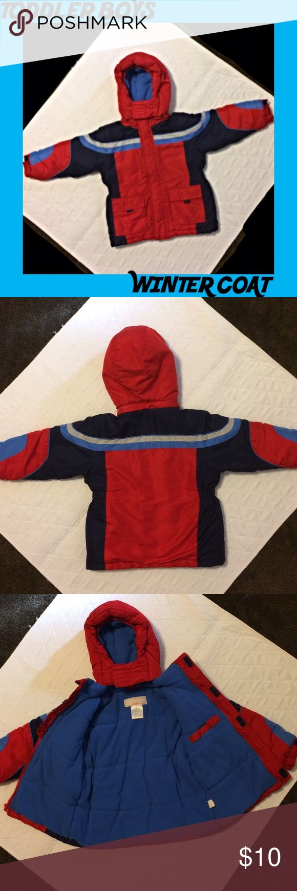"""✨Toddler Boy Winter Coat Very good used condition. Hood is detachable. I cannot remember what brand this coat is. The tag is only a label that says """"my name"""" where you can write your child's name. Looking up the RN# it could be made by S. Rothschild. 🚫TRADES Jackets & Coats"""