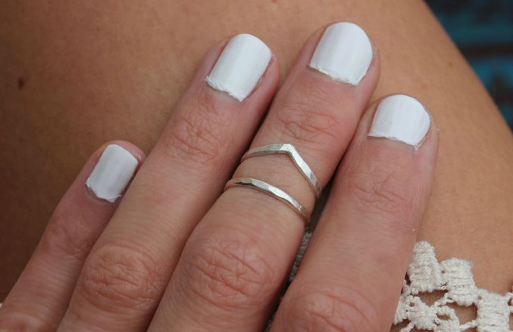 Sterling silver knuckle ring stacking rings  by ChildrenofFlowers