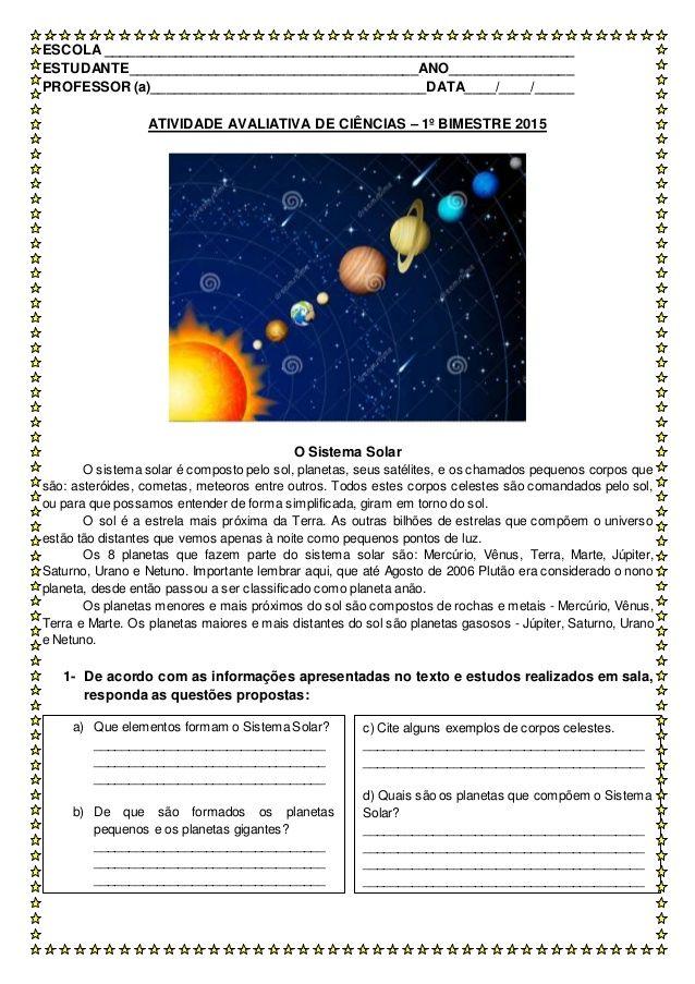Escola Estudante Atividades De Ciencia