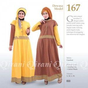 Baju Gamis Qirani Modis Model 167 Terbaru http://distromuslimah.net/baju-gamis-qirani-modis-model-167-terbaru/