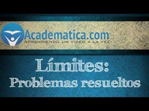 Video de limites - calculando limites - ejemplos