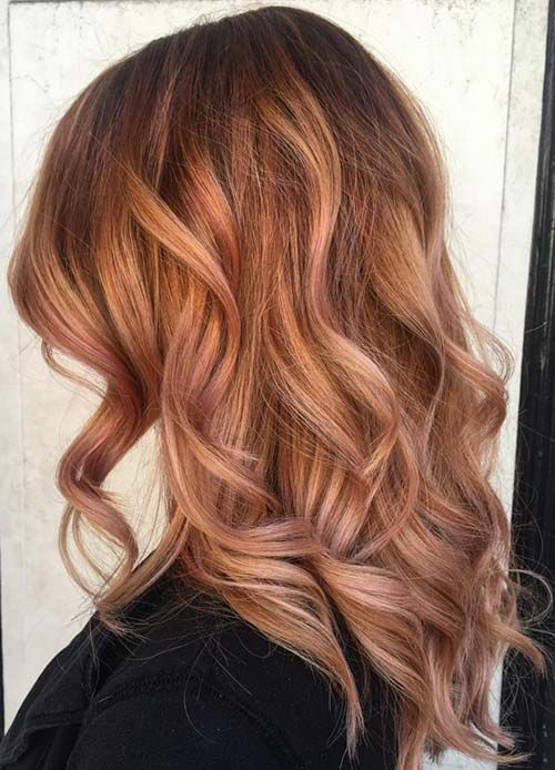 65 rose gold hair color ideas instagram s latest trend for How to dye roses black