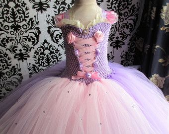 Vestito principessa Raperonzolo Raperonzolo di KimJaneCreations