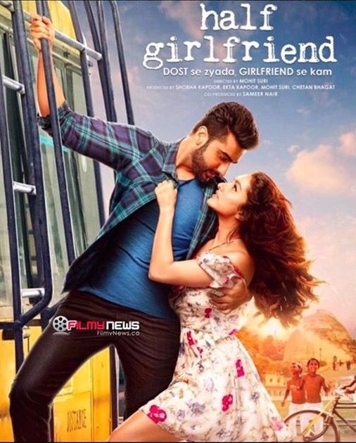 Half girlfriend new poster out  Half Girlfriend Hindi Movie All Mp3 Songs Lyrics with HD Videos Half Girlfriend is an upcoming Indian romantic drama film directed by Mohit Suri based on the novel of the same name written by Chetan Bhagat. CAST: Arjun Kapoor and Shraddha Kapoor ► http://www.gdn8.com/2017/03/half-girlfriend-movie-all-songs-lyrics.html