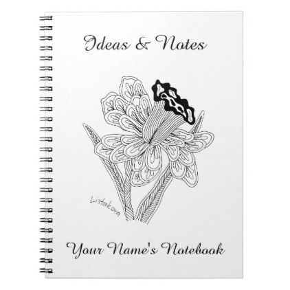 Listakora Flower Personalized Notebook - spring gifts beautiful diy spring time new year