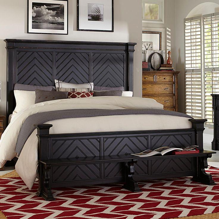 Broyhill Furniture New Vintage Queen Chevron Bed Baer 39 S Furniture Headboard Footboard Boca