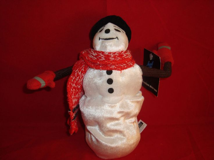 "WARNER BROS STORE-JACK FROST SNOWMAN-9""-BEAN PLUSH-NEW/TAGS-SCARF-MITTENS-HAT- #WARNERBROSSTUDIOSTORES"