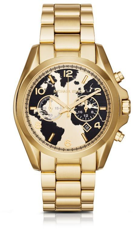 michael kors watch hunger stop oversized bradshaw 100 gold. Black Bedroom Furniture Sets. Home Design Ideas