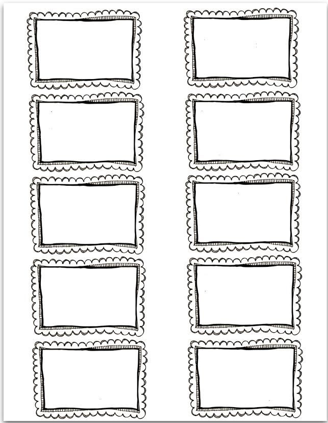 Blank Printable Labels