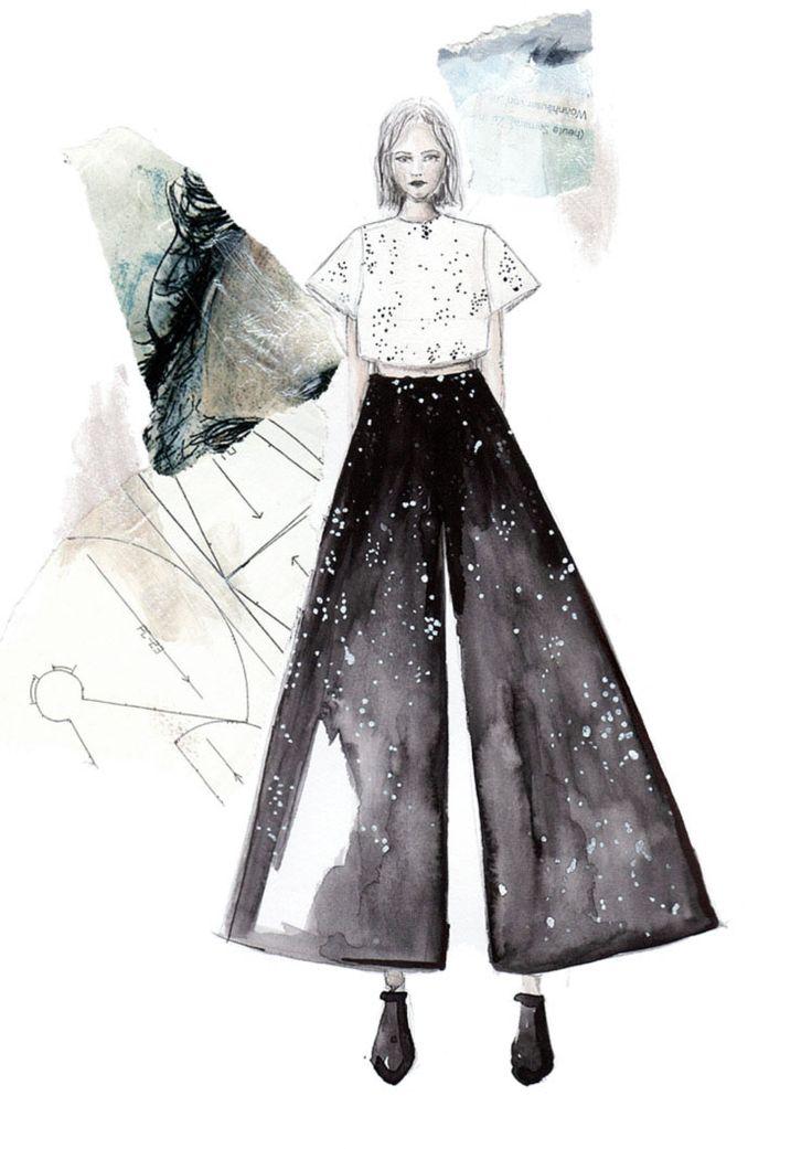 Fashion Sketchbook - fashion illustration; fashion design creative process; fashion portfolio // Hermine on Walk
