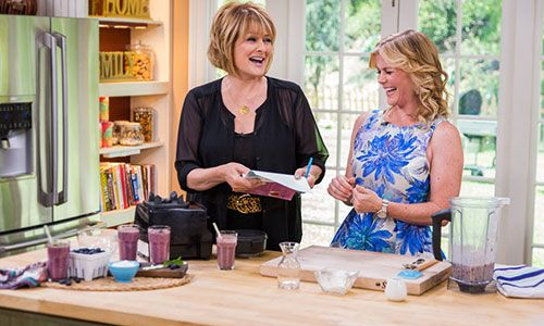 Home & Family - Recipes - Alison Sweeney's Healthy Blueberry Smoothie | Hallmark Channel 6/10