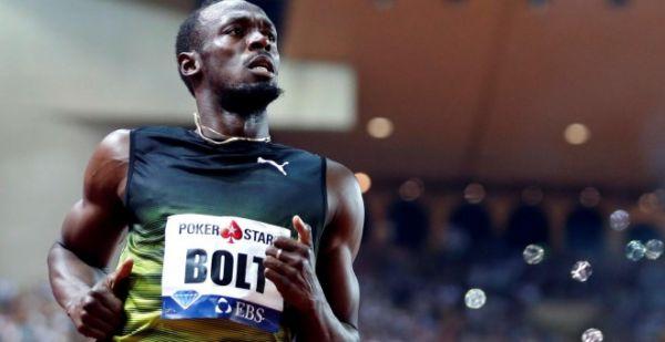"""El atleta jamaicano Usain Bolt corriendo los 100 metros en la IAAF Diamond League Herculis en Monaco, su última final de 100 metros en un Mundial. """" Reuters 8/5/17 http://m.publico.es/sociedad/2009404/no-saber-quien-es-usain-bolt-es-como-no-saber-quien-fue-frank-sinatra/amp"""