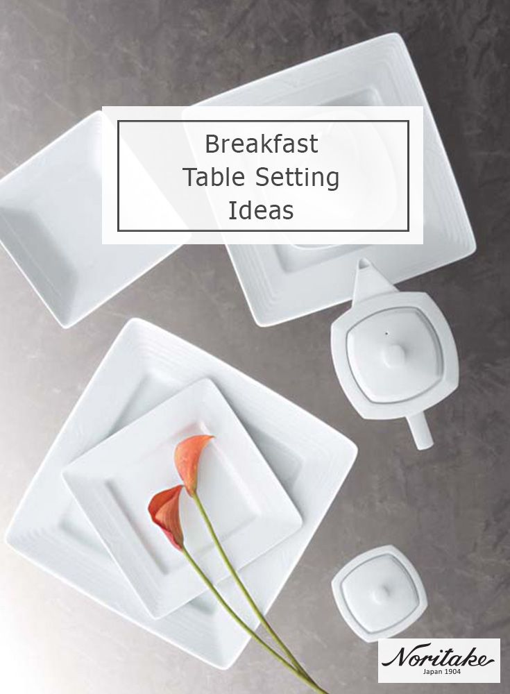 Breakfast in bed anyone? Noritake Arctic White is ideal for serving both your 'up-and-go' workday breakfast or your weekend special.