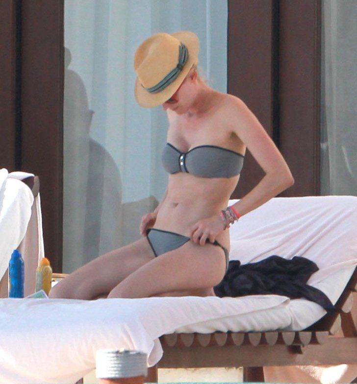 Pin for Later: Over 50 Celeb Snaps to Inspire Your Best Bikini Style Diane Kruger Diane Kruger showed off a perfect two-piece — a minimalist bandeau topped with her straw fedora.