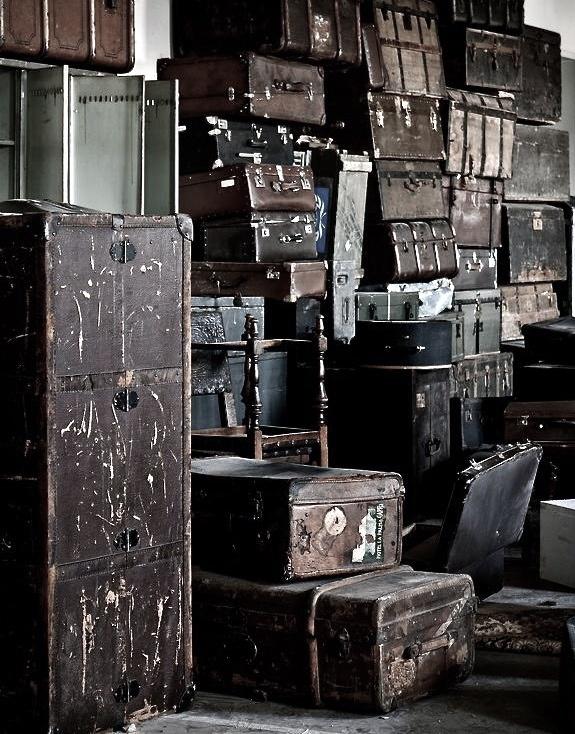 Vintage trunks & suitcases