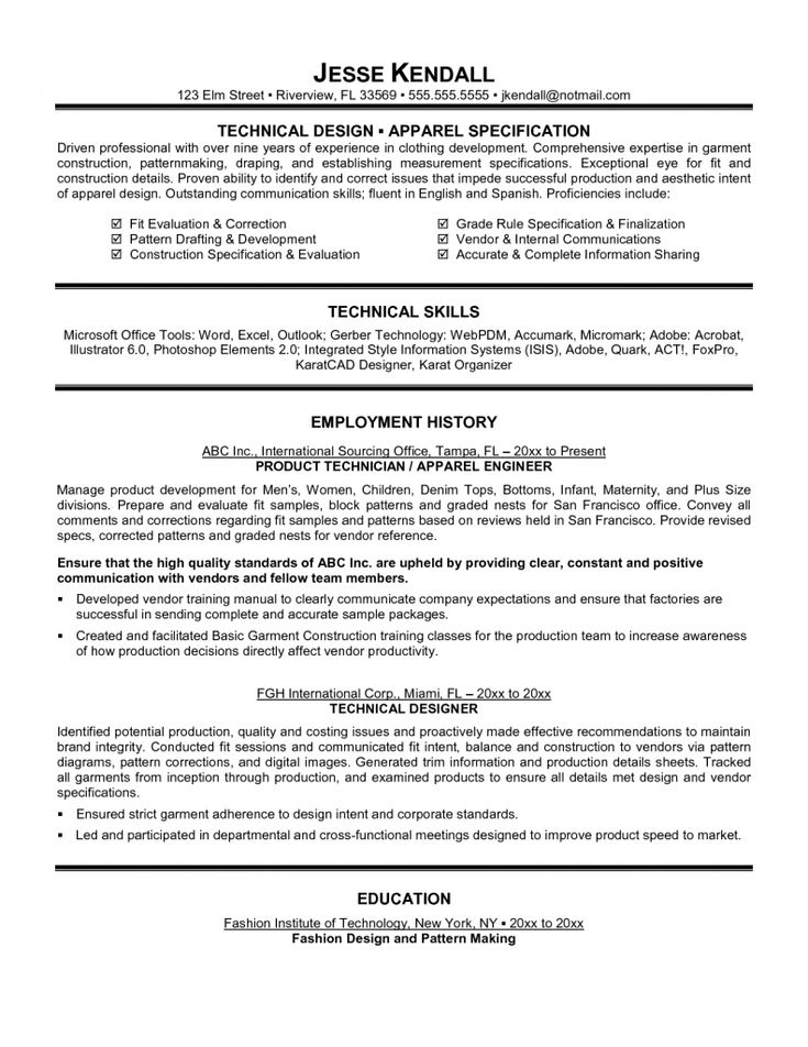 top 10 collection technical resume examples