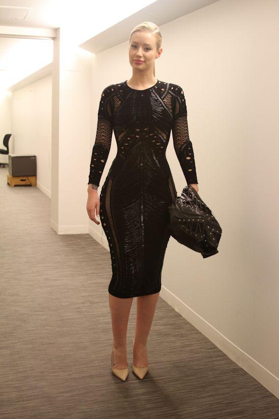 Iggy Azalea's Julien MacDonald Fall 2014 Black Embellished Dress