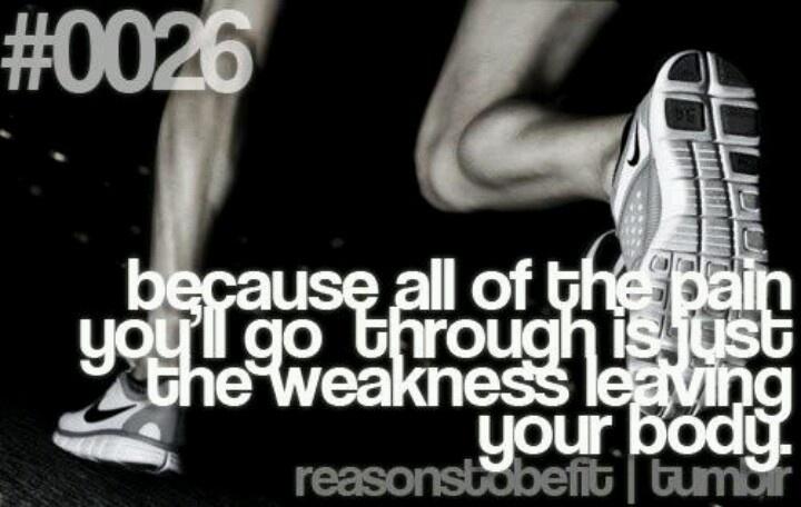 Pain is weakness