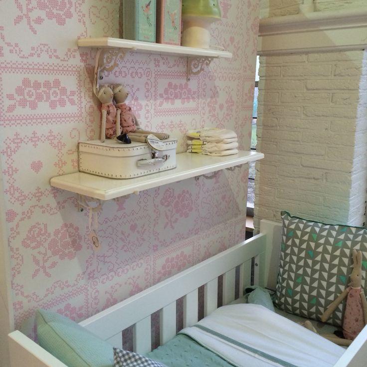 Babykamer roze mint