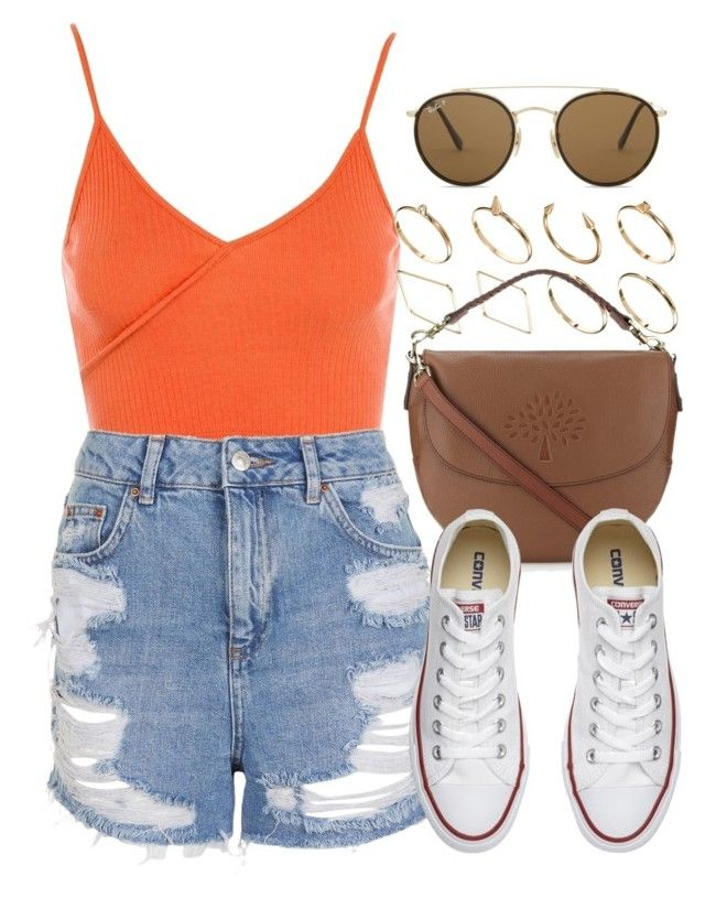 """Sin título #12671"" by vany-alvarado ❤ liked on Polyvore featuring Topshop, ASOS, Mulberry, Converse and Ray-Ban"