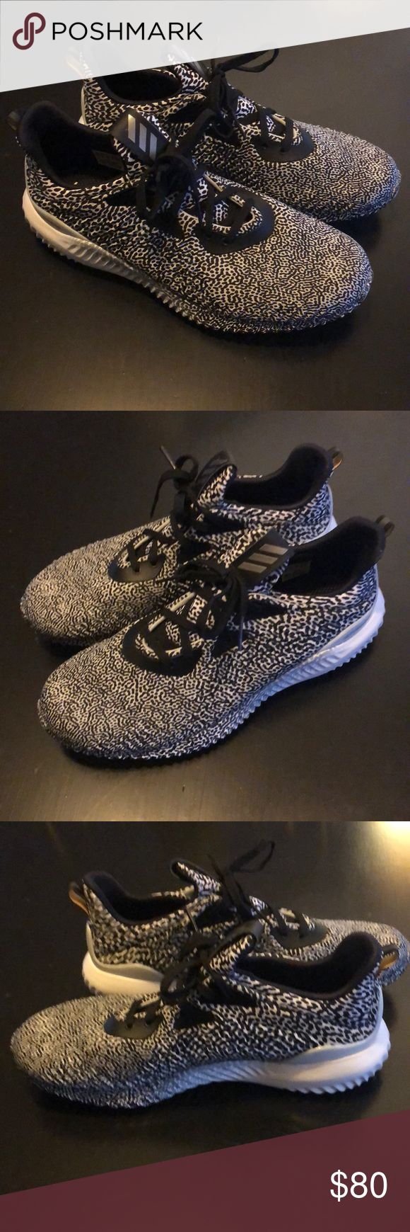 Adidas Alpha Bounce Perfect condition Adidas Alpha Bounces. Only worn a couple of times! Insoles and outside of shoes are still in like new condition. Only have some discoloring on bottom soles. Size 10. adidas Shoes Athletic Shoes