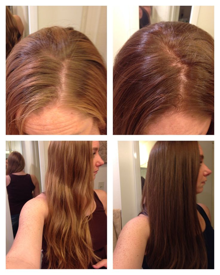 Before and after Clairol Natural Instincts Light Brown Suede 13