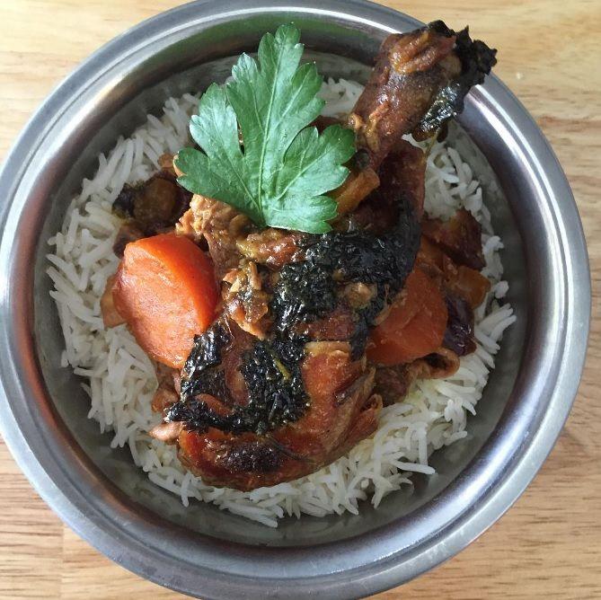 Apricot + Turmeric Chicken w/ Steamed Basmati Rice