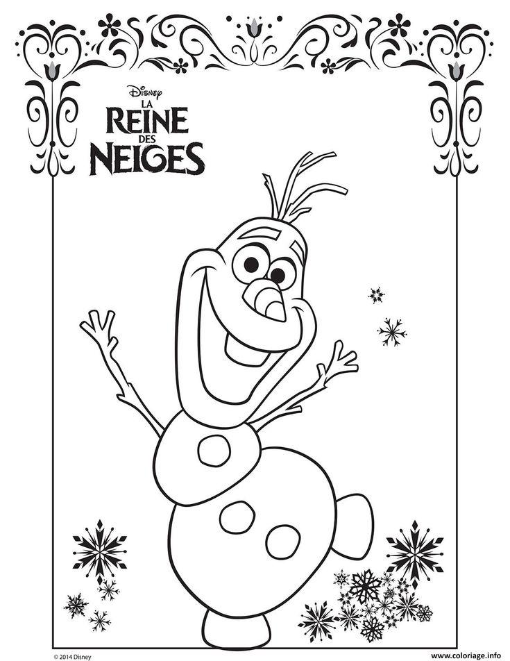 Coloriage Reine Des Neiges Olaf