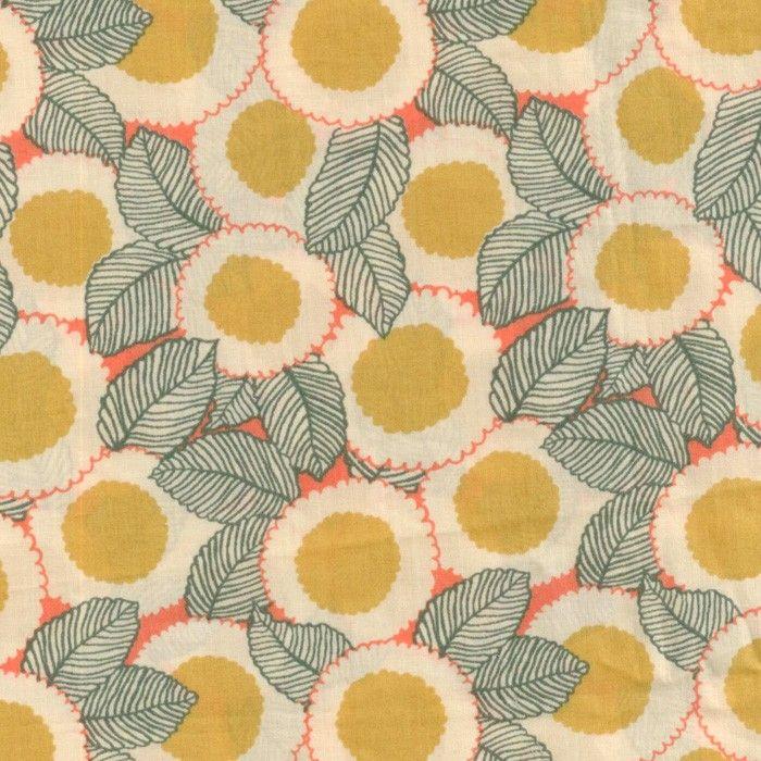 Fleurs rondes jaunes
