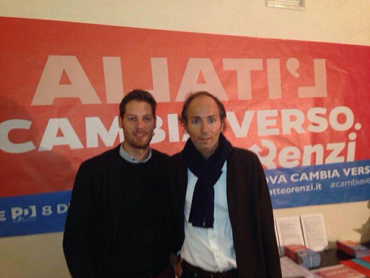 Con il Segretario Cittadino del PD al punto elettorale Renzi a Padova
