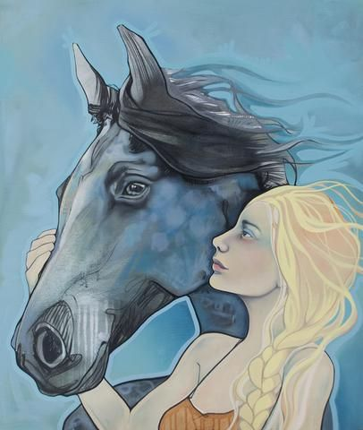 This piece was created as a commission for alady who not only rides horses, but...