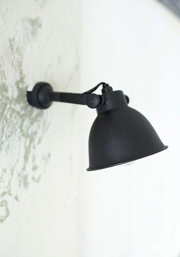black + white industrial lighting