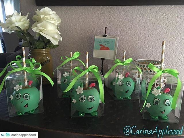 #Repost @carinaappleseed How amazing is this!!  A real life #AppleBlossom #Shopkins You totally rocked these apples  Thank you so much for your constant support. I could not be…