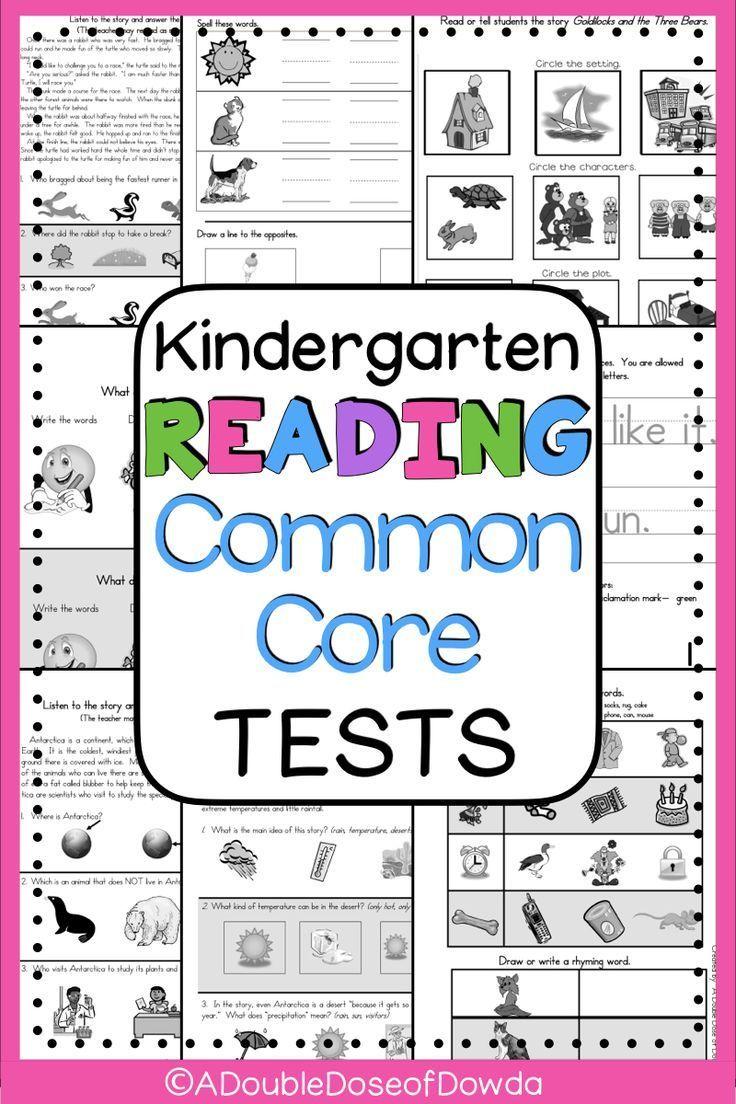 Kindergarten Reading Assessments 22 Tests Kindergarten Reading Kindergarten Reading Reading Assessment Reading Assessment Kindergarten Map reading test kindergarten