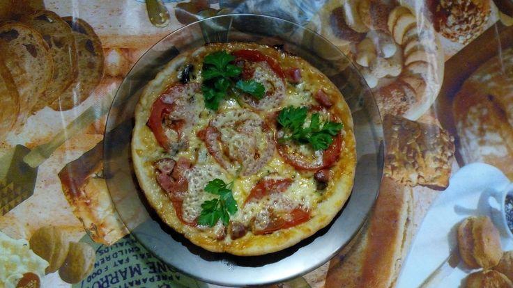 Пицца в мультиварке - пошаговый фото рецепт приготовления