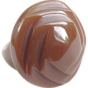 Delicious Caramel Colored Deco Bakelite Ring