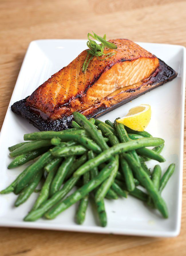 Cedar-Planked, Bourbon-Glazed Salmon, as Prepared by Weber Grill Restaurant and Grill Academy