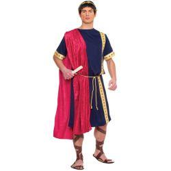 Plus Size Roman Senator Costume for Men