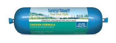 Natural Balance Chicken Formula Dog Food Rolls Complete Training Treats 1lbs