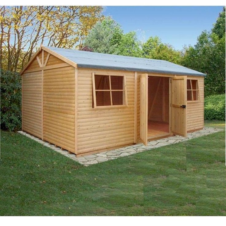 Shire Mammoth Heavy Duty Pine Shiplap Timber Workshop 12x18 (Pine Log Optional)