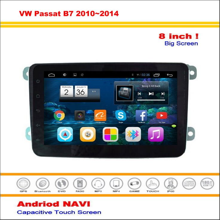 Car Android Navigation System For Volkswagen VW Passat B7 / Sharan 2010~2014 Radio Stereo Audio Video Multimedia No DVD Player