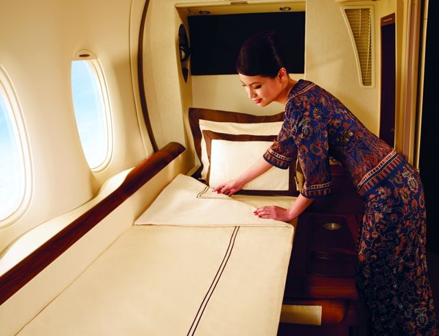Singapore Airlines Suite-Get a Great Night's Sleep!